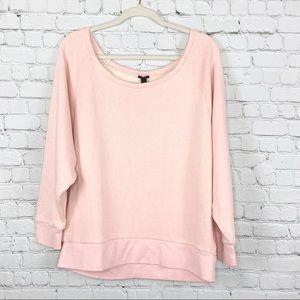 J. Crew Easy Sweatshirt Pink Size L/XL